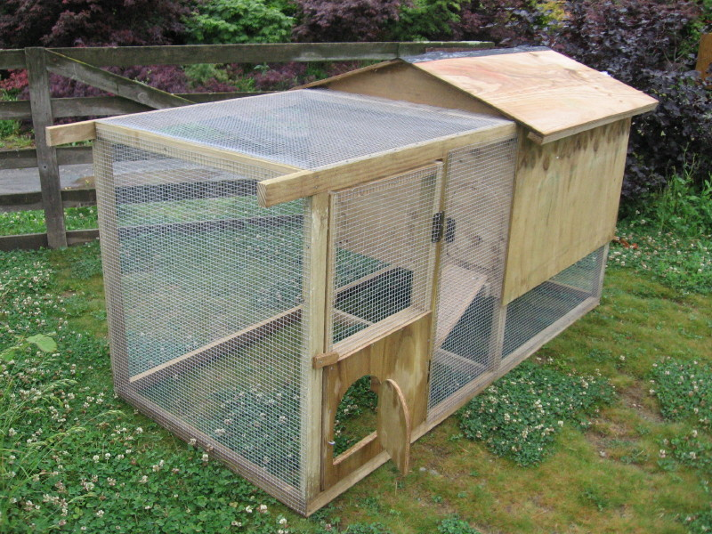Raised movable chicken house from chooks.co.nz.